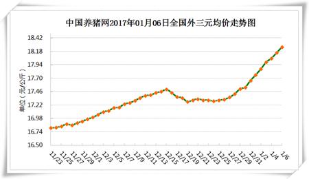 1月6日猪评:还在涨 猪价天花板会不会是18.75元/公斤?