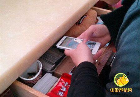 不要在你拿工资的地方玩手机!