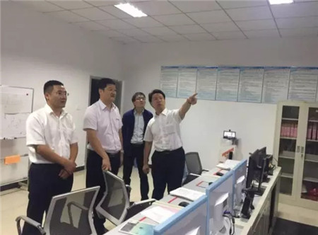 通威股份华中二区总裁幸鹏赴天门通威视察指导