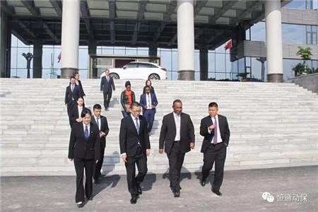 四川恒通动保新工厂迎来首批寻求合作的外国客人