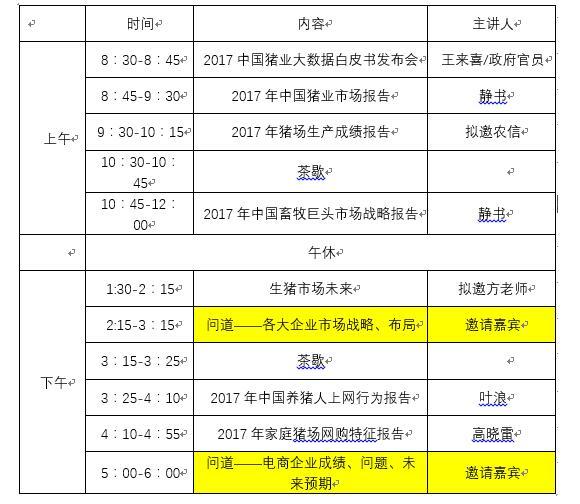 2017中国猪业大数据发布会