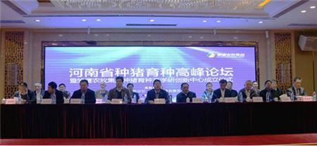 河南省种猪育种高峰论坛开幕 产学研大咖为生猪育种觅方