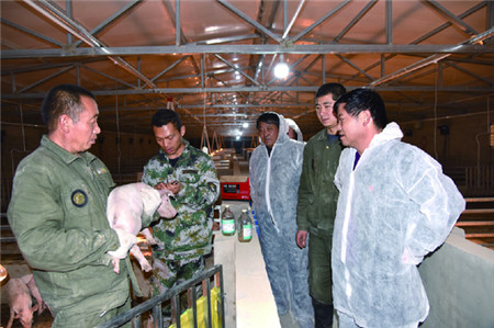 代县聂营镇整合四村扶贫资金联办规模养猪场促农增收