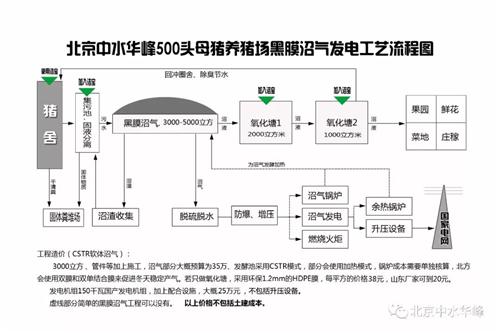 黑膜沼气发电流程和洁宝在其中的应用