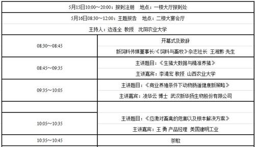 畜博论坛(2018)暨中国畜牧科技创新论坛(最终通知附日程安排)