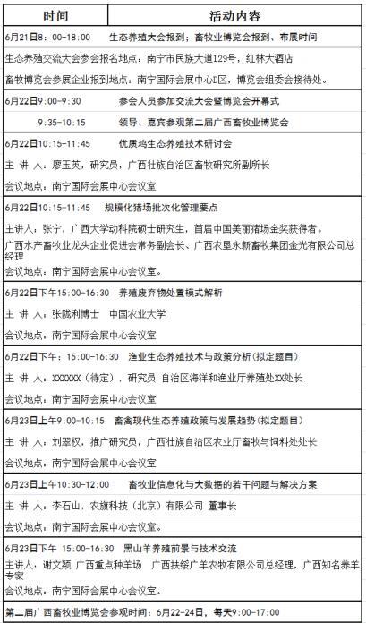 """关于参加""""新时代 新政策 新技术""""2018广西生态养殖发展交流大会暨第二届广西畜牧业博览会的函"""