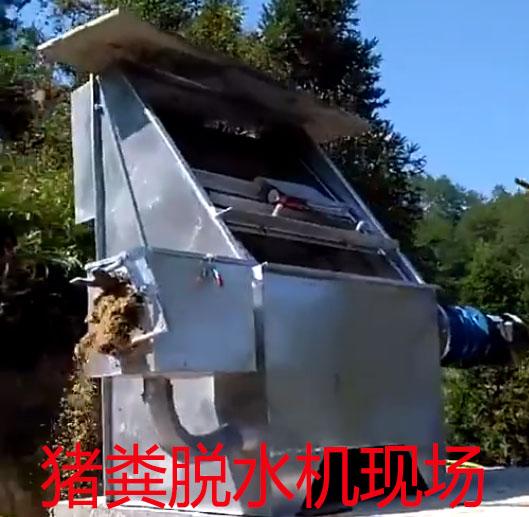猪粪干湿分离机+沼气池养猪模式解决了养猪污染难题
