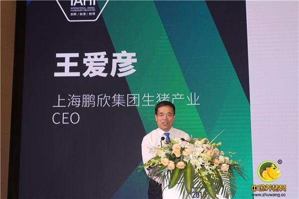 上海鹏欣集团生猪产业CEO王爱彦先生分享《提高猪场经济效益的关键控制点》主题报告