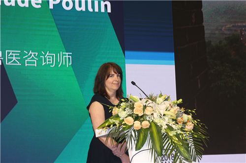 加拿大独立兽医健康顾问Marie-Claude Poulin 现场分享《批次生产和健康效益》主题报告