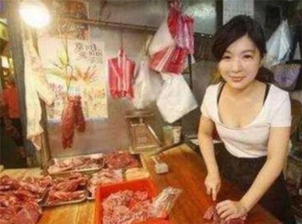 卖猪肉不可耻,美女大学生卖猪肉爆红网络!