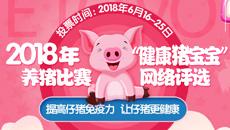 """2018年""""健康猪宝宝""""养猪比赛——网络评选!"""