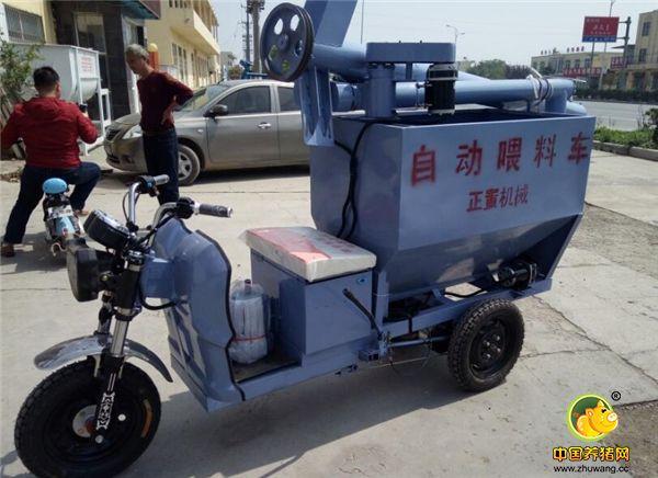 电动喂料车自带加力杆