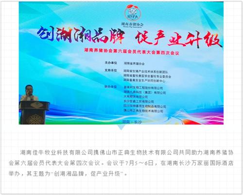 湖南养猪协会第六届会员代表大会第四次会议翁亚彪老师作正典寄生虫防控策略报告