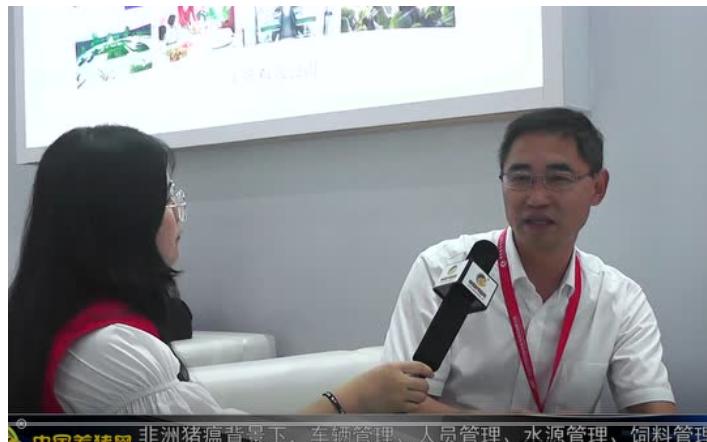 中国养猪网记者对话山东华辰制药匡宝晓博士