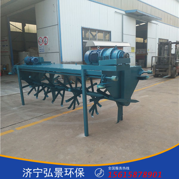 养猪场零排放粪便设备功能特点、发酵床翻耙机原理介绍