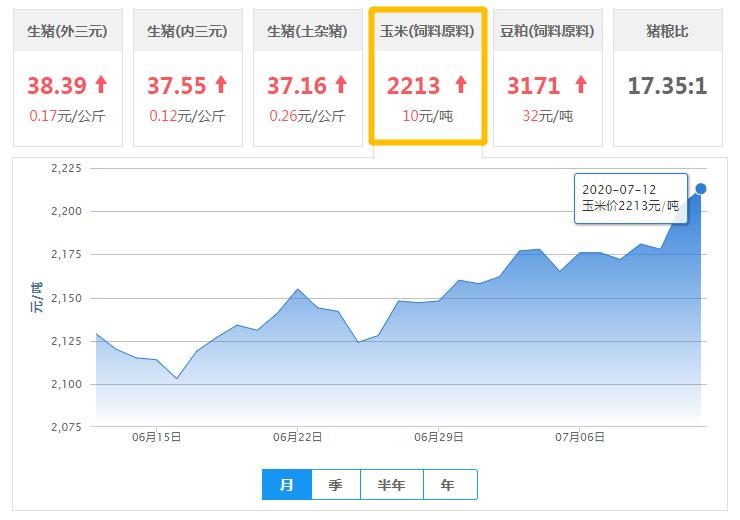 7月12日玉米价格:上涨动力比较足,后期或攀高!